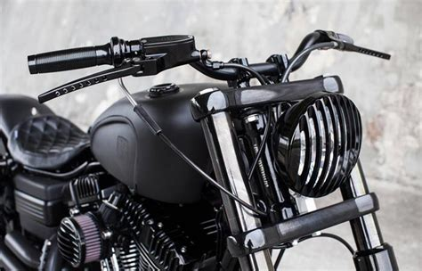 Grill Headl Roughcrafts For All Harley Headl 5 3 4 Inch dyna guerilla bob by crafts mybike tv