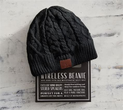 one size hat wireless beanie one size fits all bluetooth hat pottery barn