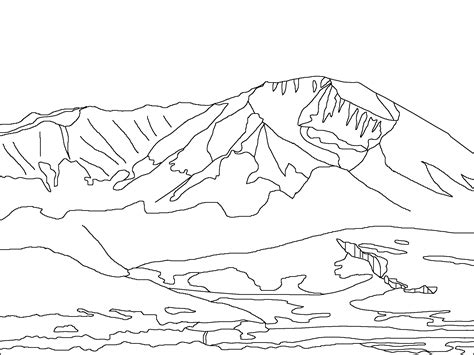Mountain Scene Coloring Pages Coloring Pages Mountain Coloring Pages
