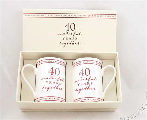 the traditional 40th wedding anniversary gift ideas wedding creative