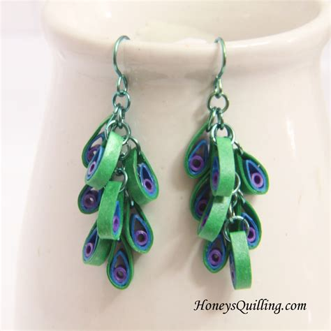 peacock design paper quilled earrings tutorial honey s peacock design paper quilled earrings tutorial honey s