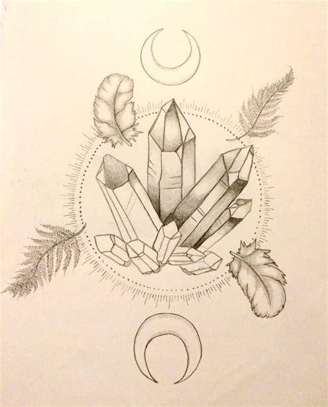 crystal tattoo designs best 25 ideas on