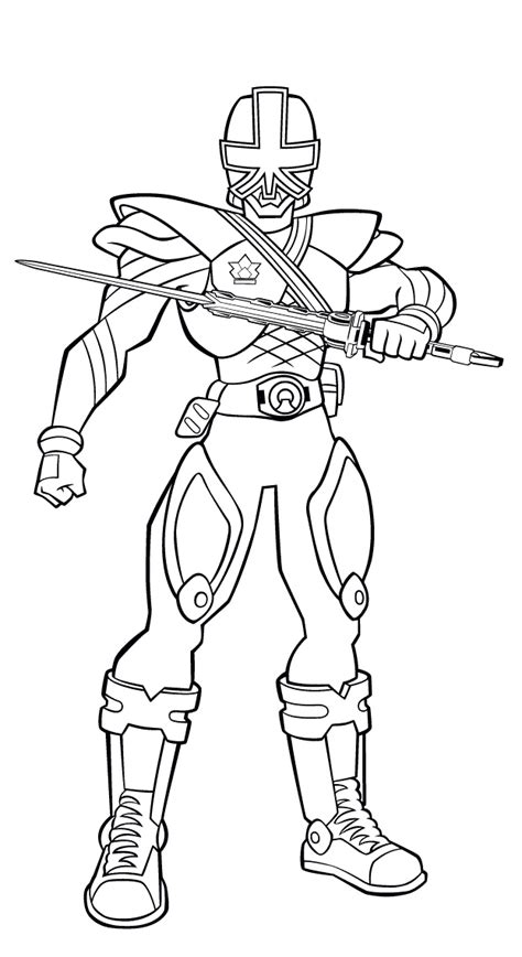 power rangers samurai gold ranger coloring coloring pages