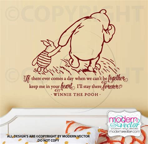 classic winnie the pooh wall stickers winnie the pooh quote vinyl wall decal lettering classic pooh style your ebay
