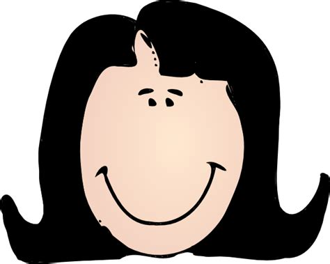 Woman with black hair clip art at clker com vector clip art online royalty free amp public domain