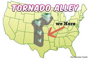 tornado alley map our awesome travels warm overcast and for