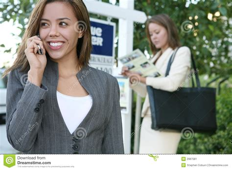 female real estate agents women real estate agents stock image image of friendly