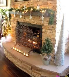 christmas mantel garland snowflakes candles and cone