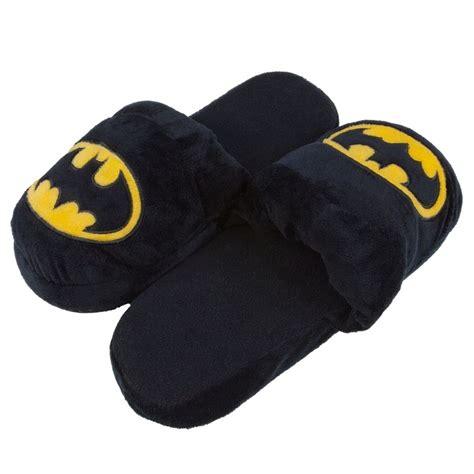big and slippers batman big logo plush slippers ebay