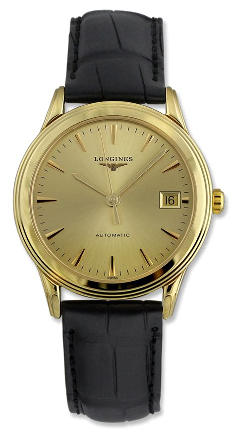 longines flagship automatic 18kt gold mens