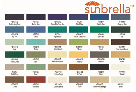 sunbrella awning colors sunbrella fabric colors 28 images westland boat cover
