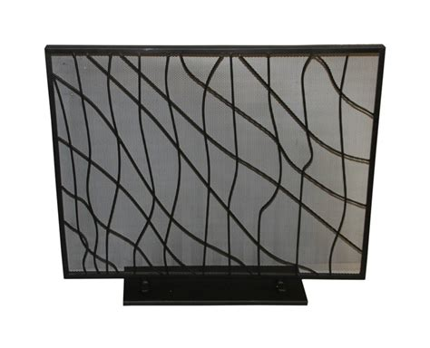 modern fireplace screen modern fireplace screens on