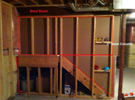 basement steel beams basement steel beam question doityourself community