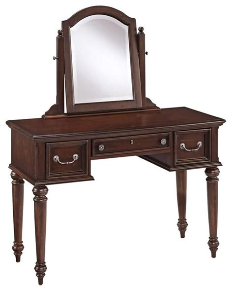 Bedroom Makeup Vanities | classic vanity and mirror traditional bedroom makeup