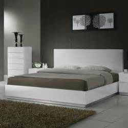 Platform Bed White White Modern Platform Bed Modern Furniture Chicago