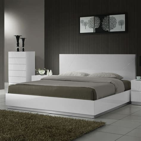 white modern bed white modern platform bed modern furniture chicago