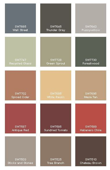 autumn the ultimate fashion color display to help you choose a paint color for your walls