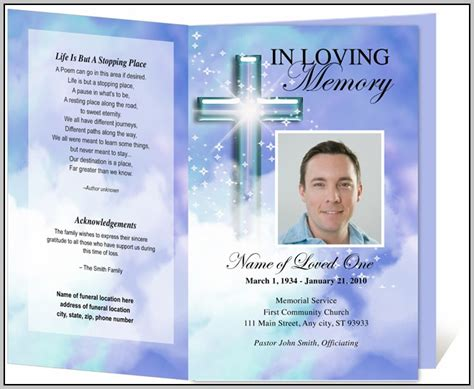 photoshop program template funeral program template photoshop template resume