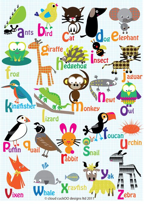 my words animals book abc s for alphabet book abc book baby book toddler book children book boys animal comics graphic color illustrations volume 1 books cloud cuckoo designs now i my abc