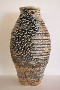 coil ceramic vase with embellishments hollabaugh