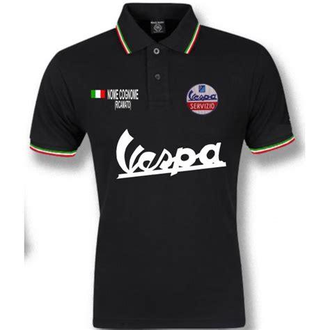 Polo Tshirt Vespa polo vespa servizio nero tricolore t shirt felpa camicia