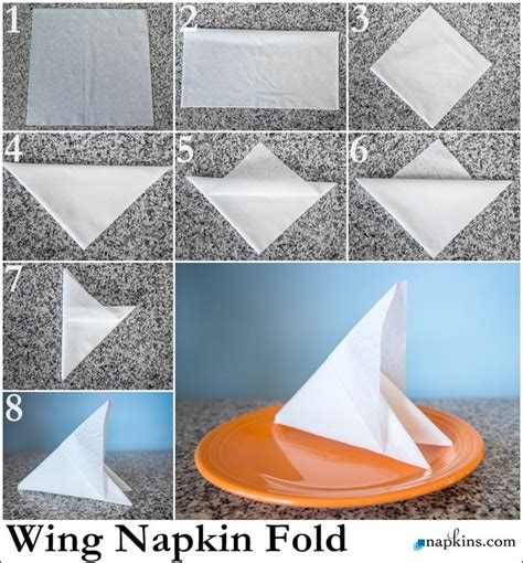Paper Napkin Folding Designs - 17 best images about paper napkin folding on
