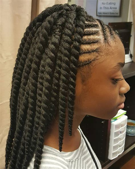 braids in front hair in back braids in the cornrows in front twist in back diva hair