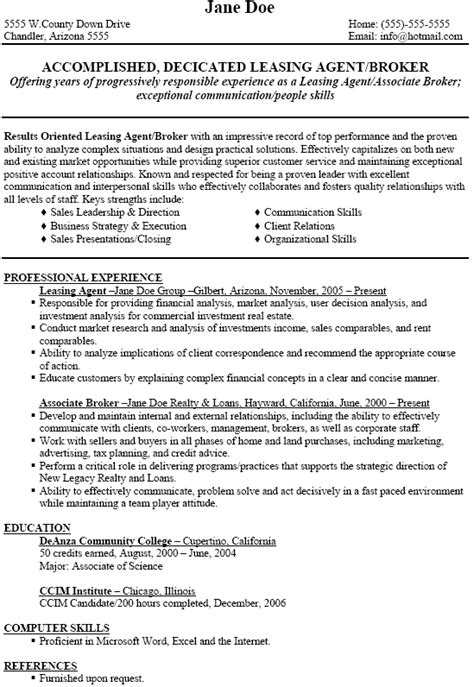 Apartment Rental Sle Resume by Leasing Resume Jvwithmenow