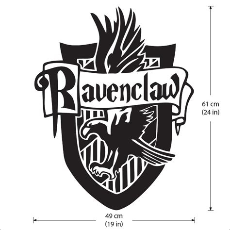 Hairstyle Tools Designs For Silhouette Harry harry potter ravenclaw house vinyl wall decal
