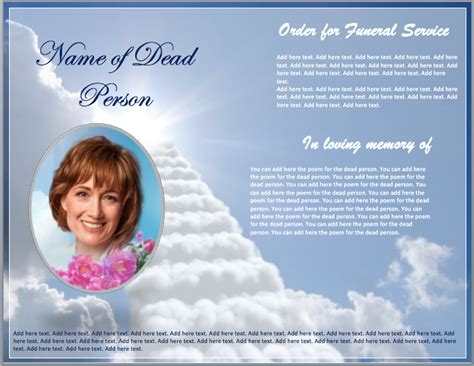 Funeral Brochure Template Search Results For Funeral Programs Templates Calendar
