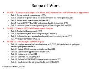 scope of work sle template scope of work