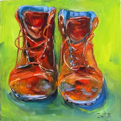 These Boots Are Made Forpaintin these boots are made for working painting by irit bourla
