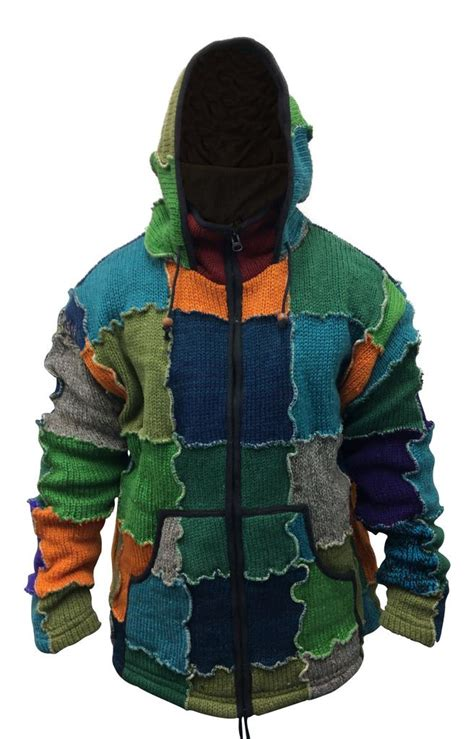 Mens Hippie Patchwork - mens pixie patchwork wool outstich hippy jacket boho