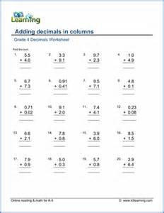 grade 4 decimals worksheets free amp printable k5 learning