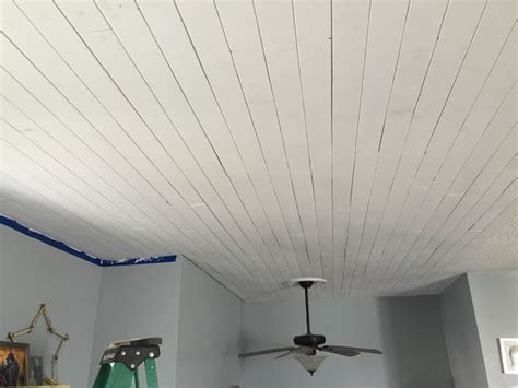dabbling crafter diy plank farmhouse ceilings