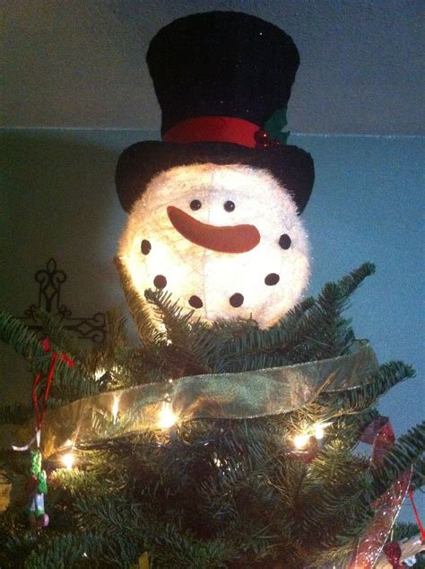 snowman tree topper from cracker barrel holidays pinterest
