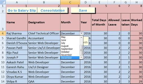 Salary Spreadsheet by Salary Sheet Excel Template Exceldatapro