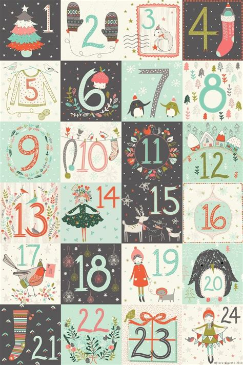 free printable advent calendar numbers 78 best images about calender advent calendari dell