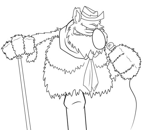 Fozzie Bear Clean By Thegreatjery On Deviantart Fozzie Coloring Pages