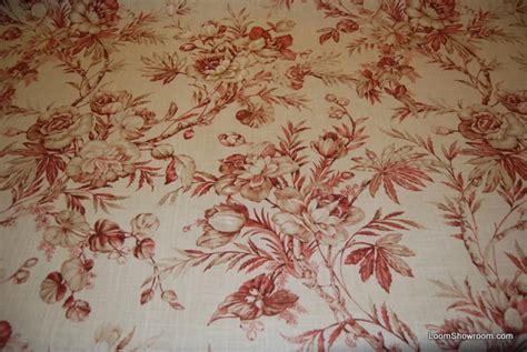 toile drapery fabric magnolia blossom toile cotton linen blend fabric heavy