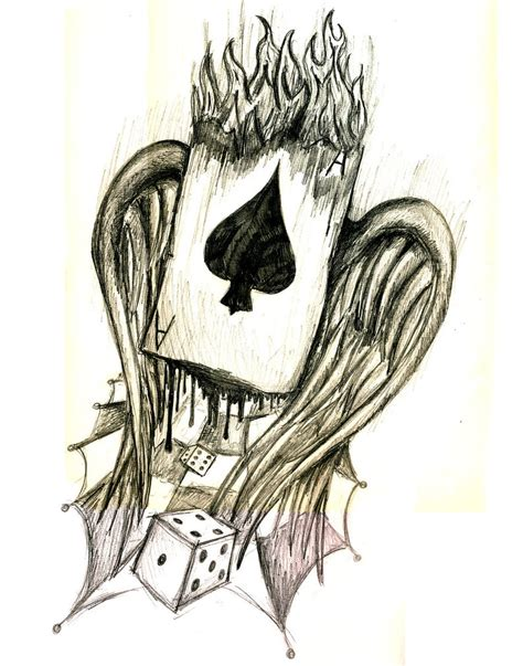 ace of spades by robbyphills on deviantart