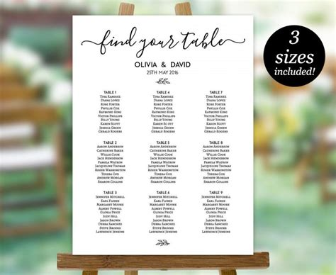 wedding seating sign template seating chart wedding sign editable seating chart okl