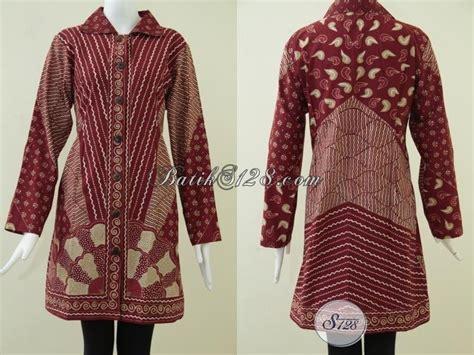 Best Seller Kemeja Batik Exclusive 9 Rendi Jaya atasan batik motif tulis untuk wanita kantoran busana batik tulis warna merah menawan exclusive