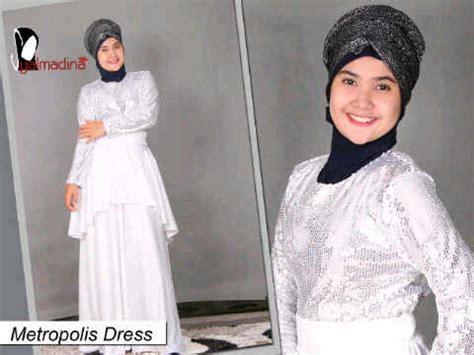 Adreena Dress By Gda Metropolis Putih Baju Muslim Gamis Modern