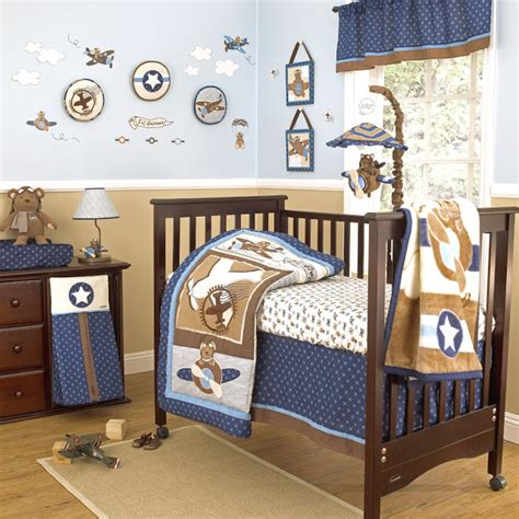 Baby Bedding Sets Boys Airplane Themed Nursery Bedding Thenurseries