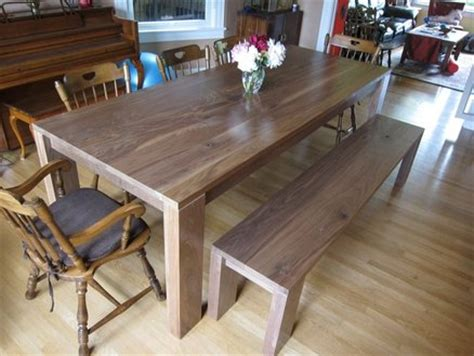 dining room table bench seat plans woodguides
