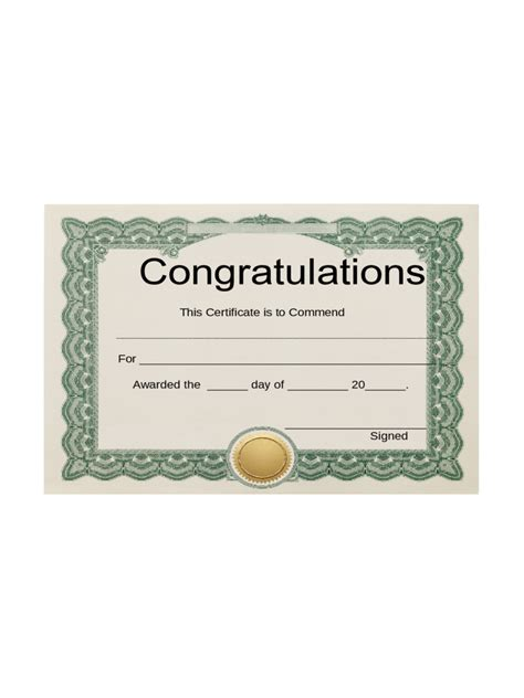 congratulations certificate template word rent record template