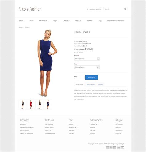 templates bootstrap products nicole fashion bootstrap 3 ecommerce template by nicole 89