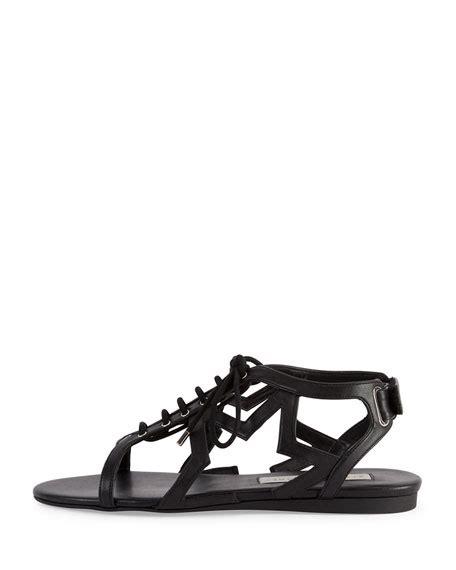 Faux Leather Flat Sandals stella mccartney faux leather flat sandal black