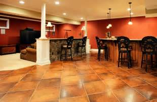 Cool Finished Basements How Can I Choose The Best Floor Tiles For A Living Room